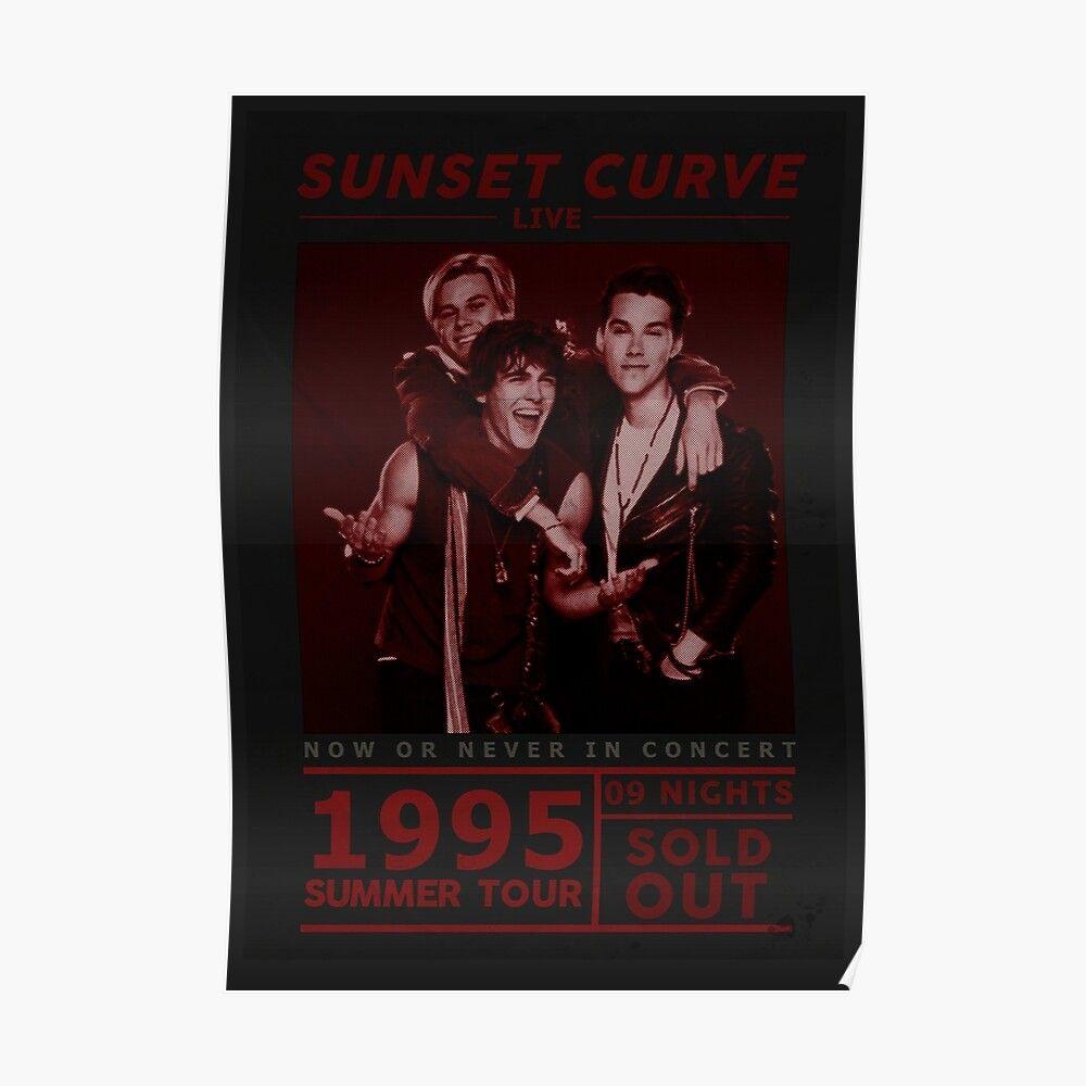 Sunset Curve Tour Poster Poster