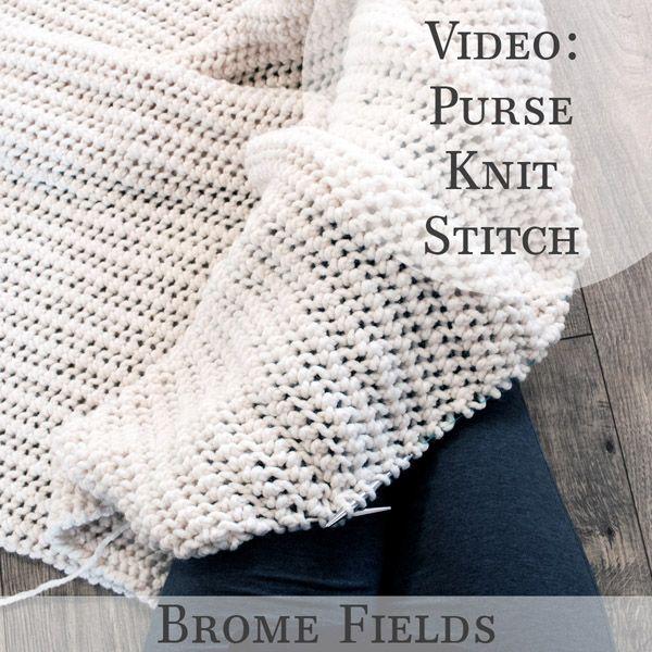 Video: Purse Knit Stitch | Tejidos a mano | Pinterest | Tejido