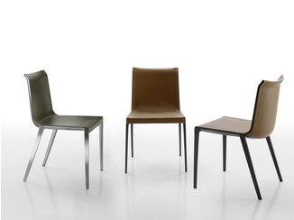 Sedia in cuoio charlotte b b italia design sedie