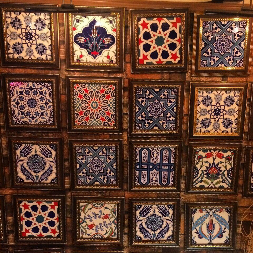 Turkish Ceramic Tiles By Www Grandbazaarshopping Com Iznik Ceramic Tiles Tile Wall Hanging Gift Ideas Christmas G Tile Wall Art Hanging Wall Art Decor Gifts