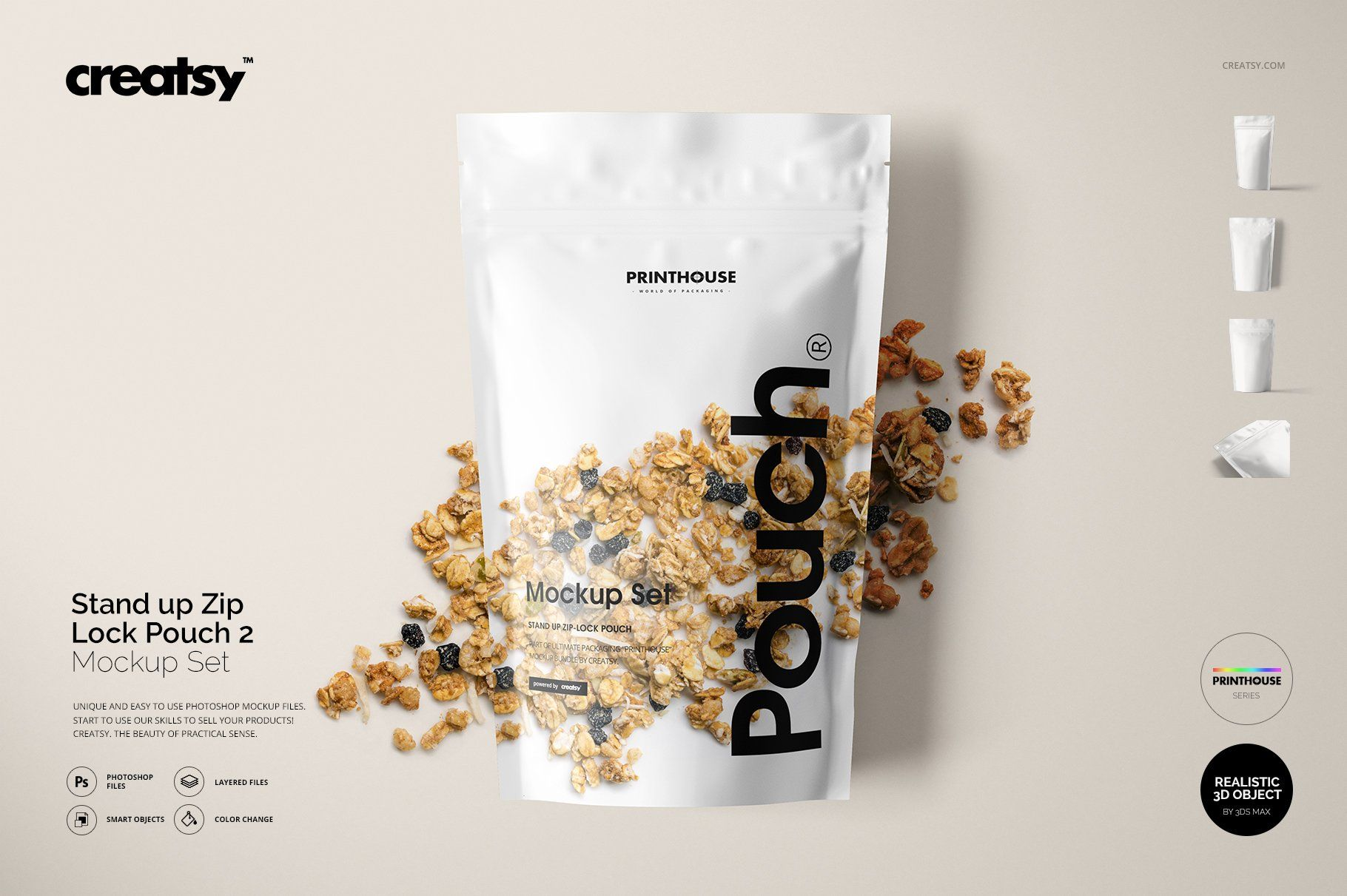 Download Stand Up Pouch 2 Mockup Set Pouch Packaging Food Packaging Design Jar Packaging