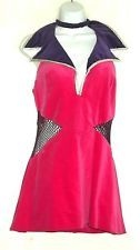VINTAGE 1960's -70's MINI DRESS MOD SEXY CHIC HIPPIE SPACE-Y with CHOKER
