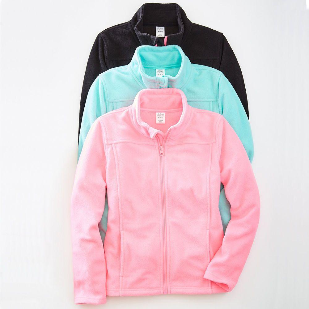 City streets girls lightweight fleece jacket zip front kids size m l