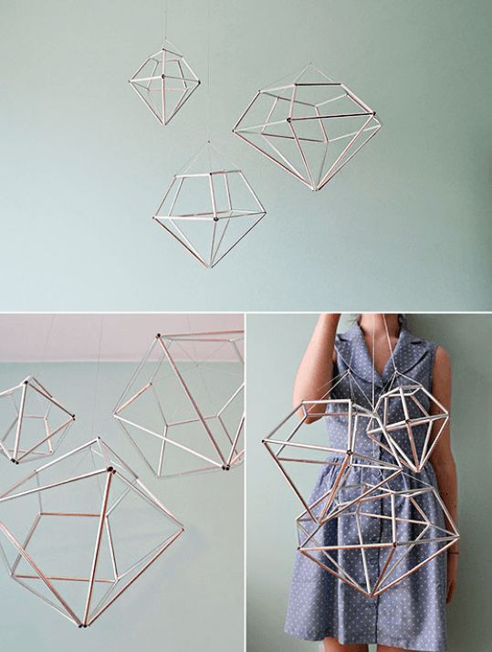 DIY Hanging Diamond Decor - Sugar & Cloth - Home Decor DIY - Houston Blogger