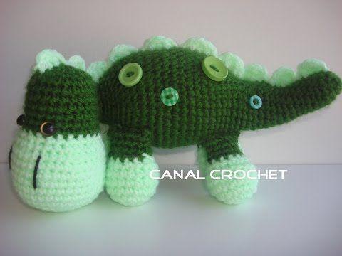 CANAL CROCHET: Dino bebé amigurumi   Animales amigurumi patrones y ...