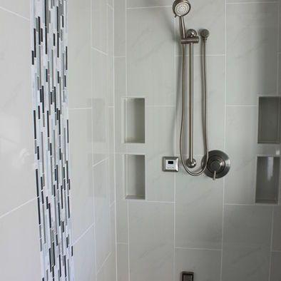 Bathroom Vertical Tile Niche Design Pictures Remodel Decor And