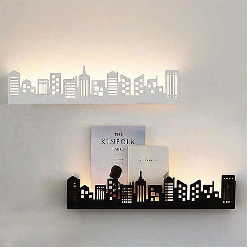 Luz Por Detras Accesorios Decorativos Para El Hogar Arte De Pared De Bricolaje Estantes De Pared