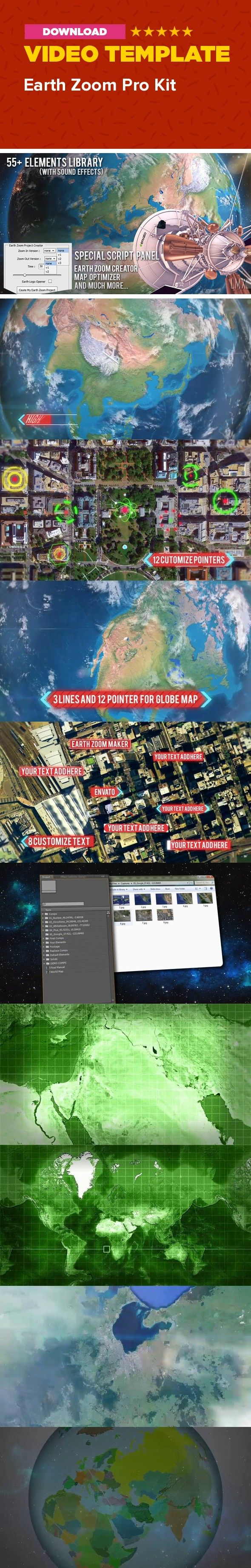 Earth zoom pro kit earth and logos country create earth earth zoom fly geopolitical globe highlight logo map opener state street world zoom you can zoom in or out a specific gumiabroncs Gallery