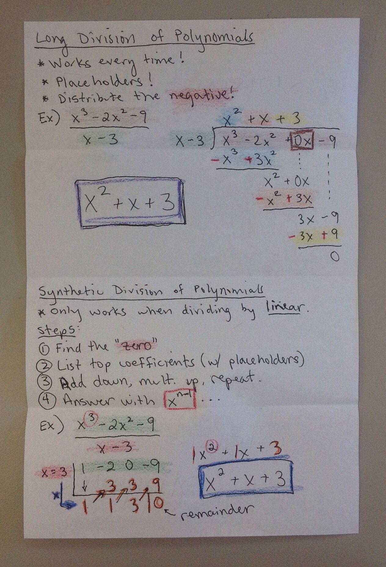 Division Of Polynomials Inb P 48 49