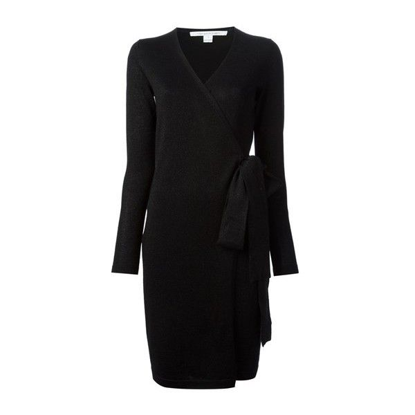 4bd34c226e5 DIANE VON FURSTENBERG Wrap Around Sweater Dress ( 278) ❤ liked on Polyvore  featuring dresses
