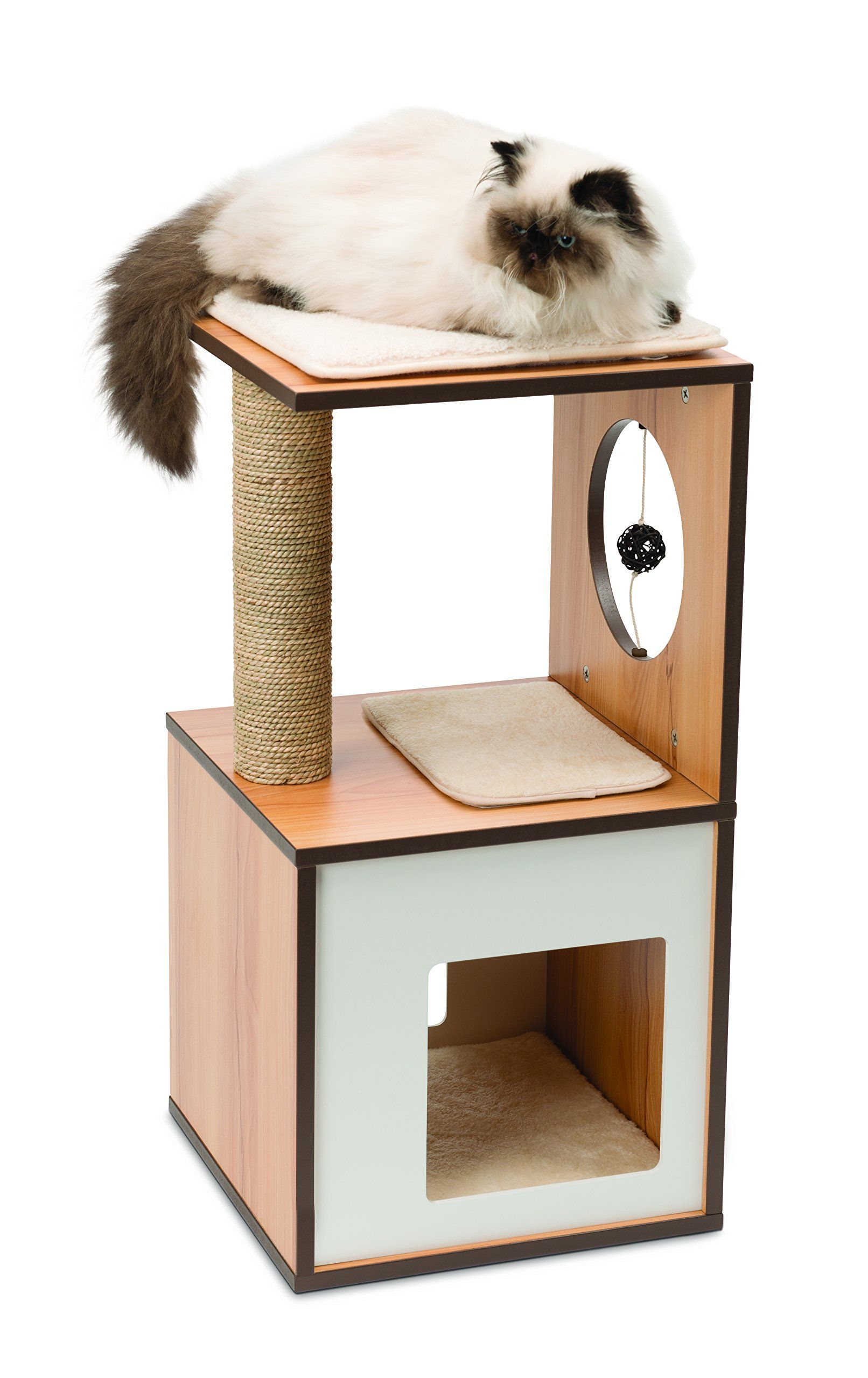 Vesper Vbox Small Walnut Take A Look At The Photo By Going To The Link This Is An Affili Vesper Cat Furniture Cat Furniture Modern Cat Furniture