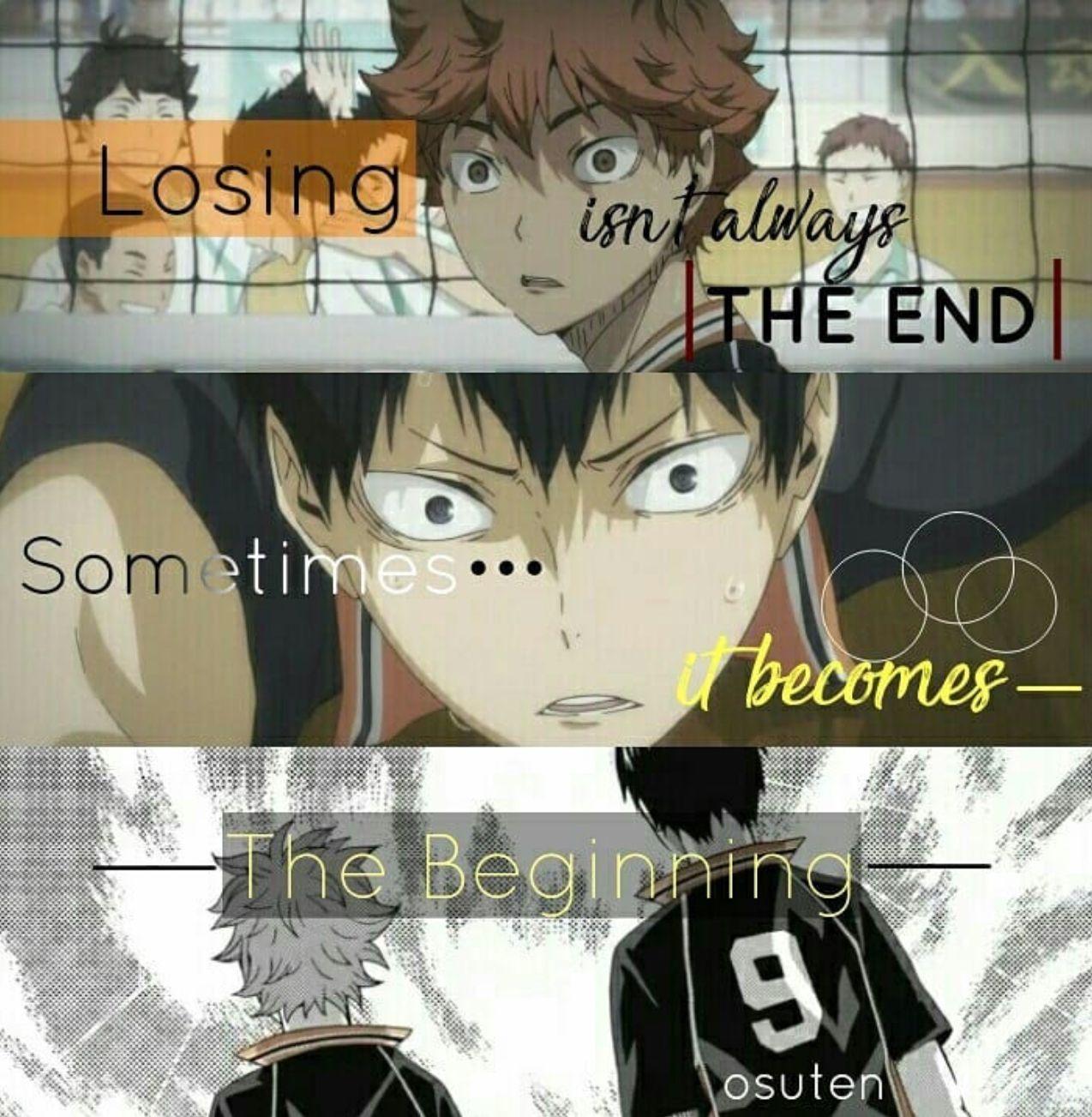 Haikyuu Anime Quote Haikyuu manga, Anime quotes