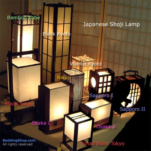 Japanese Shoji Lamp At The BeddingShop