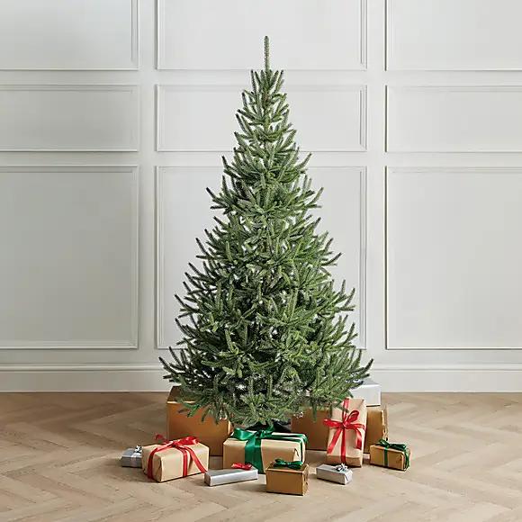 6ft Green Half Tree Dunelm Half Christmas Tree Half Christmas Pre Lit Christmas Tree
