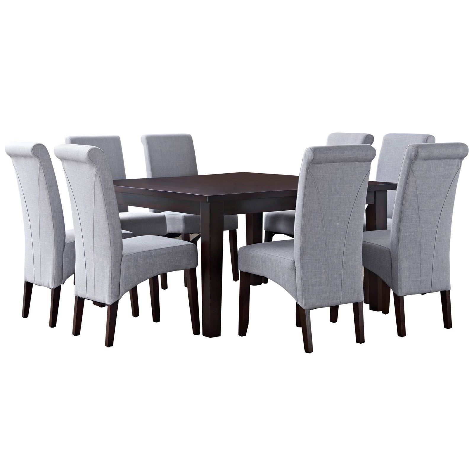 e25008e09184bd Simpli Home Avalon 9 Piece Dining Set Dove Gray Linen | Products en ...