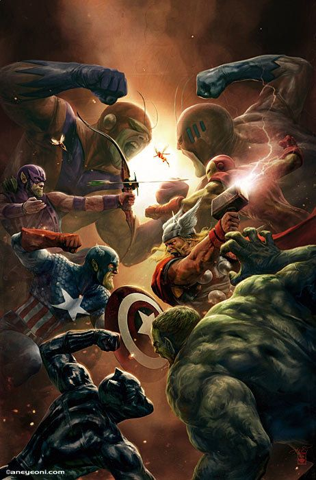 Marvel S New Avengers 4 Comic Art Is A New Take On An Old