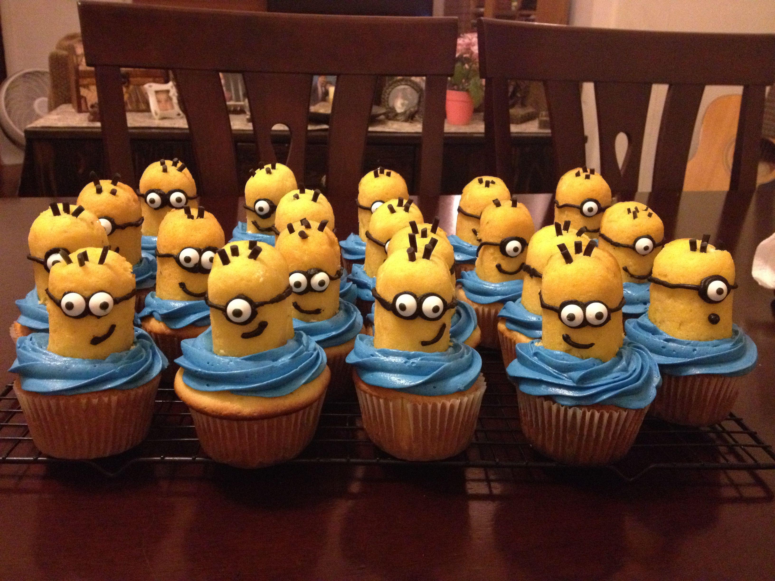 Outstanding Minion Cupcakes Twinkies Drool Minion Cupcakes Fun Birthday Cards Printable Benkemecafe Filternl