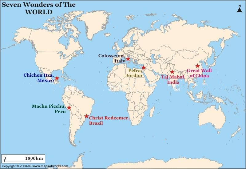 Pics For > Ancient Wonders Of The World Map