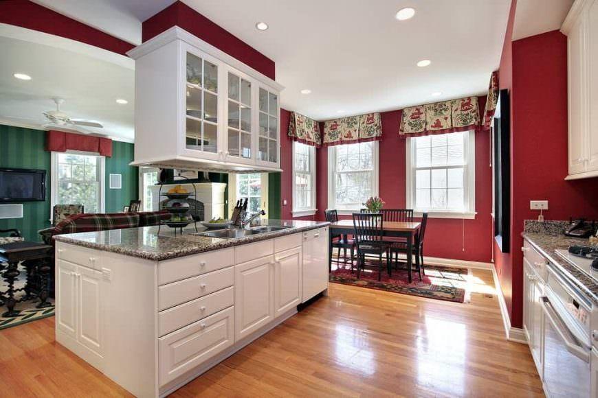 Best 101 Custom Kitchen Design Ideas Pictures Red Kitchen 400 x 300