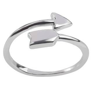 Women's Journee Collection Arrow Fashion Ring in Sterling Silver