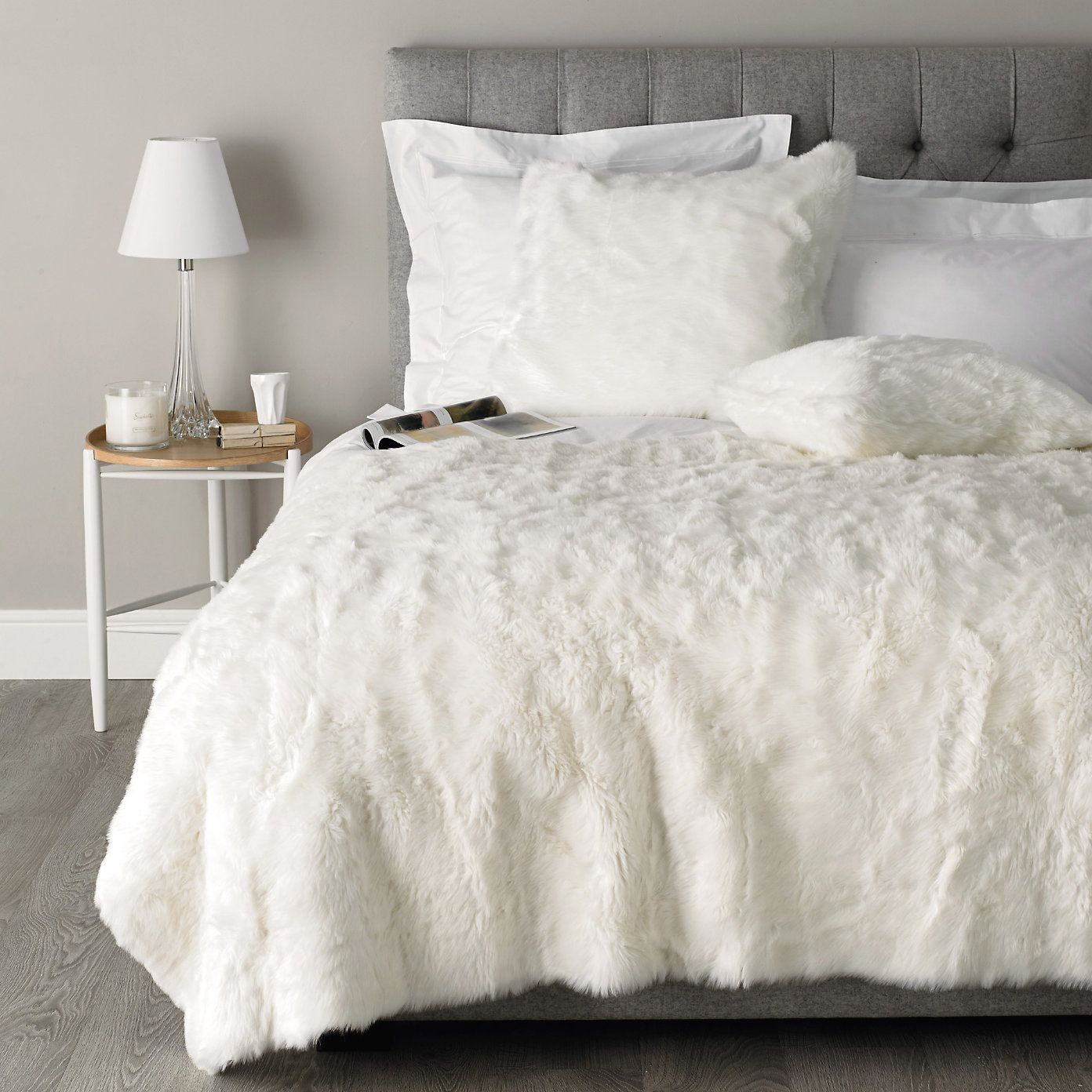Best Luxury Faux Fur Throw Bedspreads Cushions The White 400 x 300
