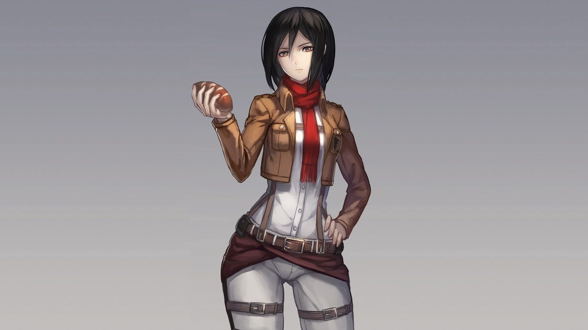 Black Haired Female Anime Character Shingeki No Kyojin Mikasa Ackerman 1080p Wallpaper Hdwallpaper Desktop Female Anime Attack On Titan Anime