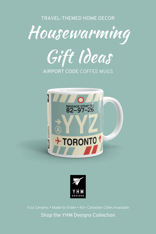 YYZ Toronto (Pearson) Coffee Mug • Airport Code & Vintage