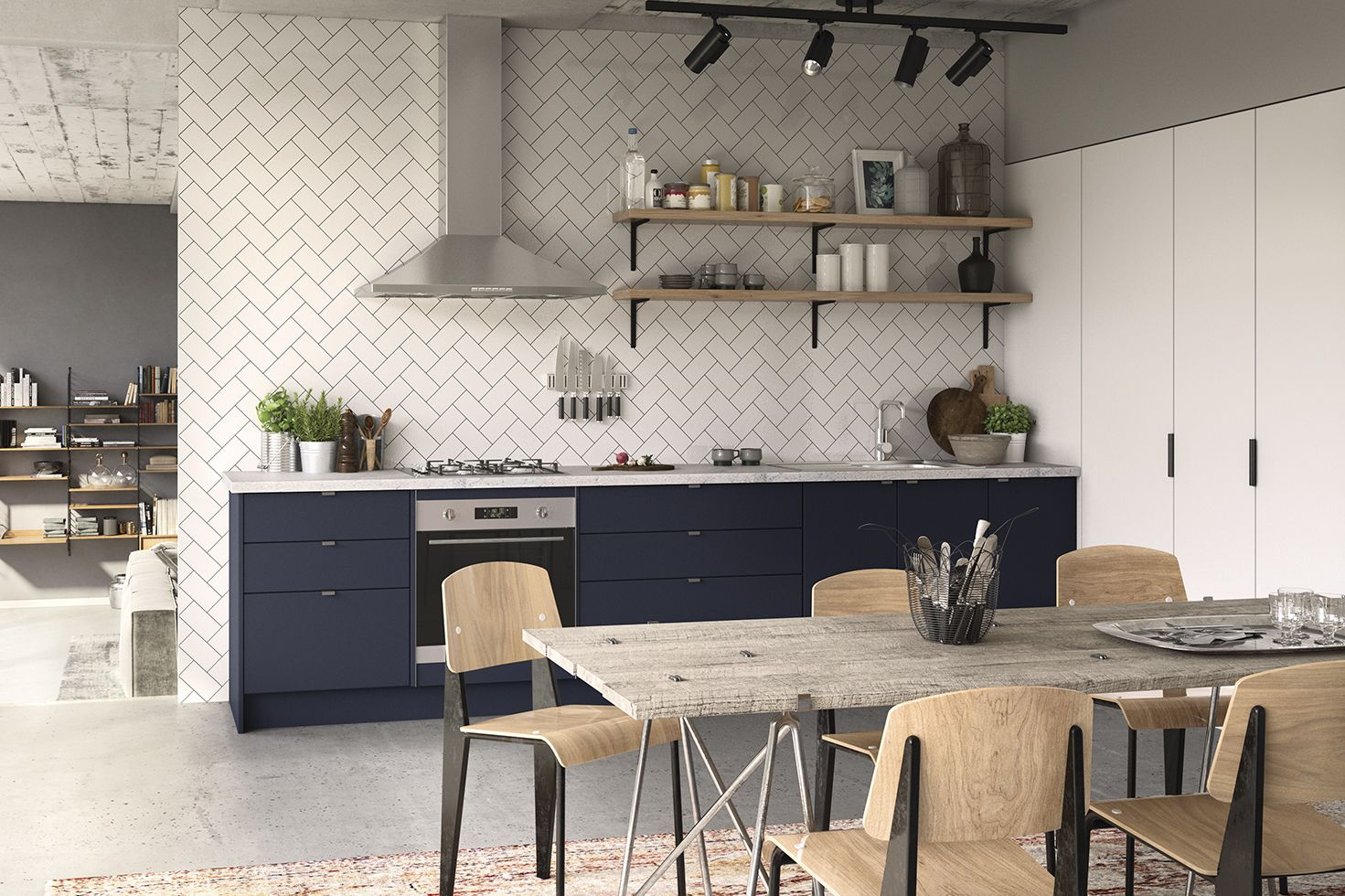warehouse apartment kitchen inspiration for more pics check out