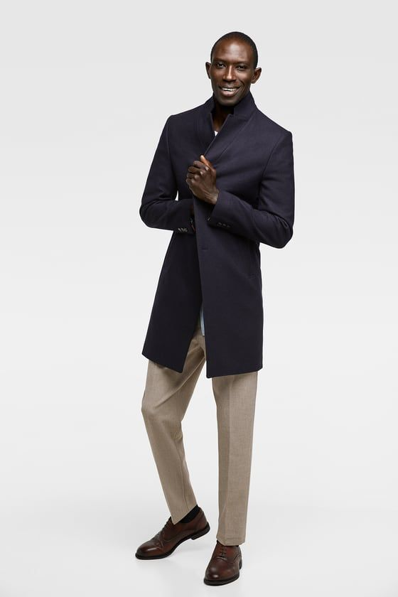d97413d7 Image 1 of LAPEL COAT from Zara | For the Husband | Coat, School ...