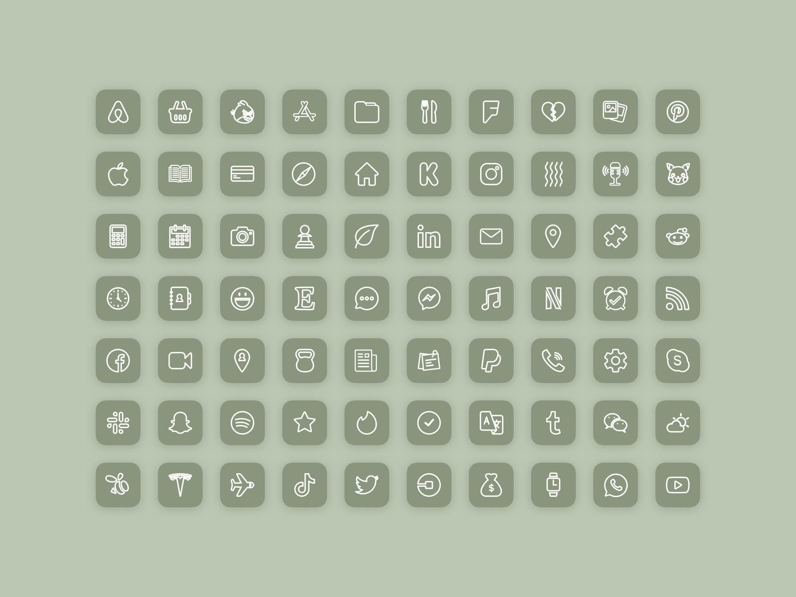 280 Boho Aesthetic iOS 14 App Icons Pack | Natural
