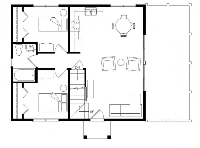 First Floor: 780 sq. ft. Like living room/kitchen/dining room ...