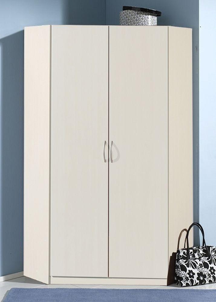 Eckkleiderschrank Kleiderschrank Weiß 5733 Buy now at   www