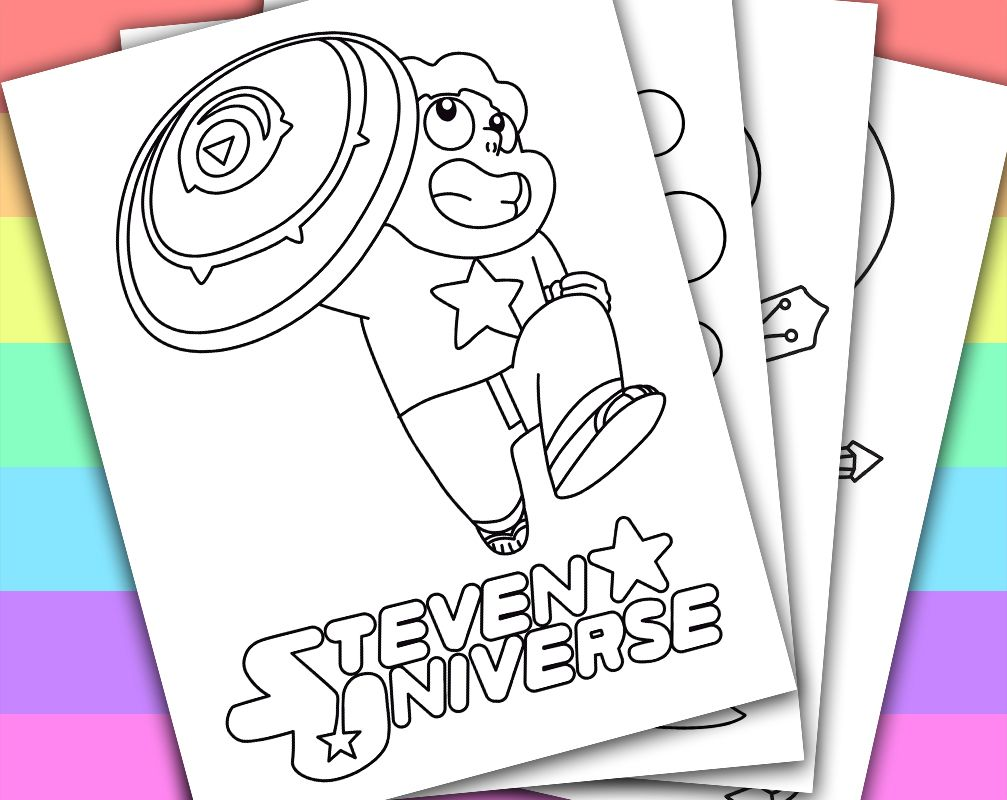 Printable coloring pages steven universe - Digital Instant Download Printable Coloring Page This Listing Give You A Series Of 4 Printable