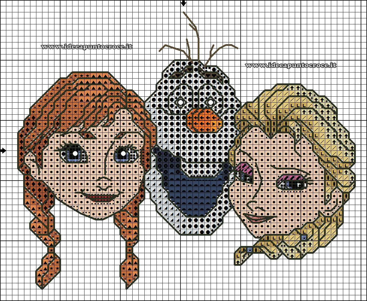 schema elsa e anna frozen | Disney cross stitch | Pinterest ...