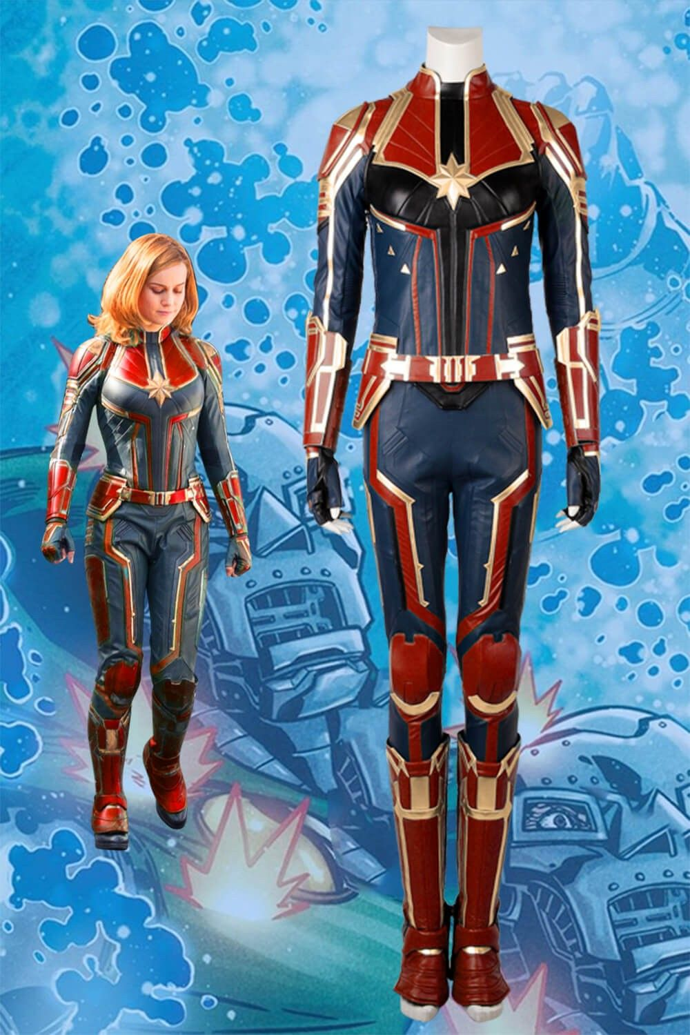 Ms Marvel Costume Captain Marvel Carol Danvers Cosplay Superhero Halloween Suits