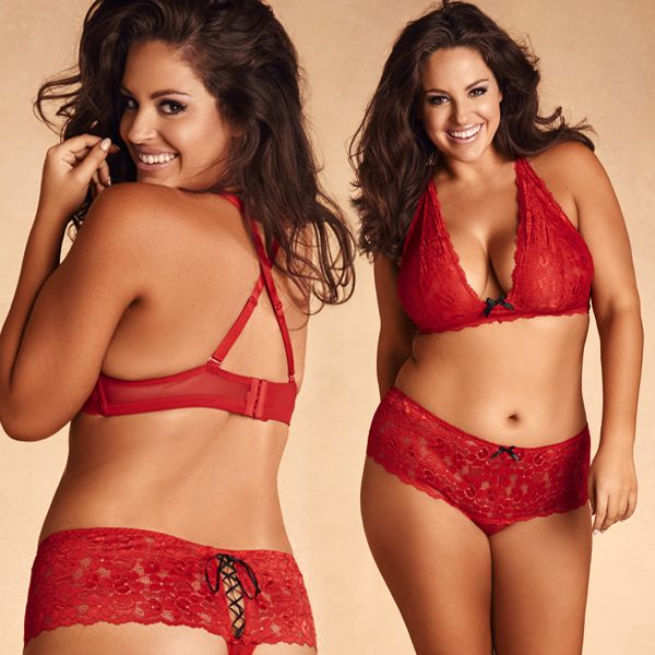 16a7f224bc0fa Adorably sweet and cheeky! Our plus size lace bralette and our plus ...