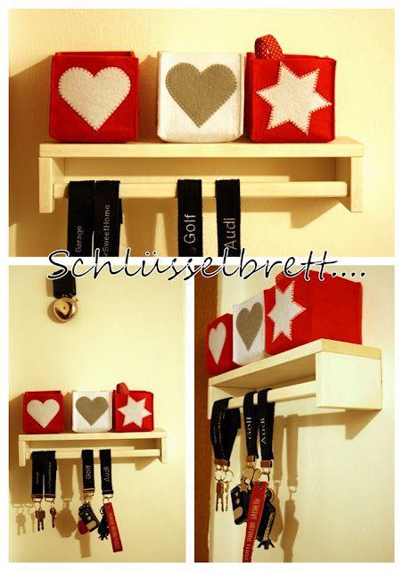 Upside Down Ikea Bekvam Spice Rack As Key Holder And Tiny Shelf
