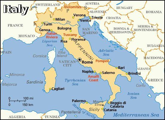 Kaart voor Italië - TripAdvisor