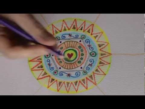 5 Mandalas In 9 Minuten Ulrike Hirsch Youtube Art Lessons
