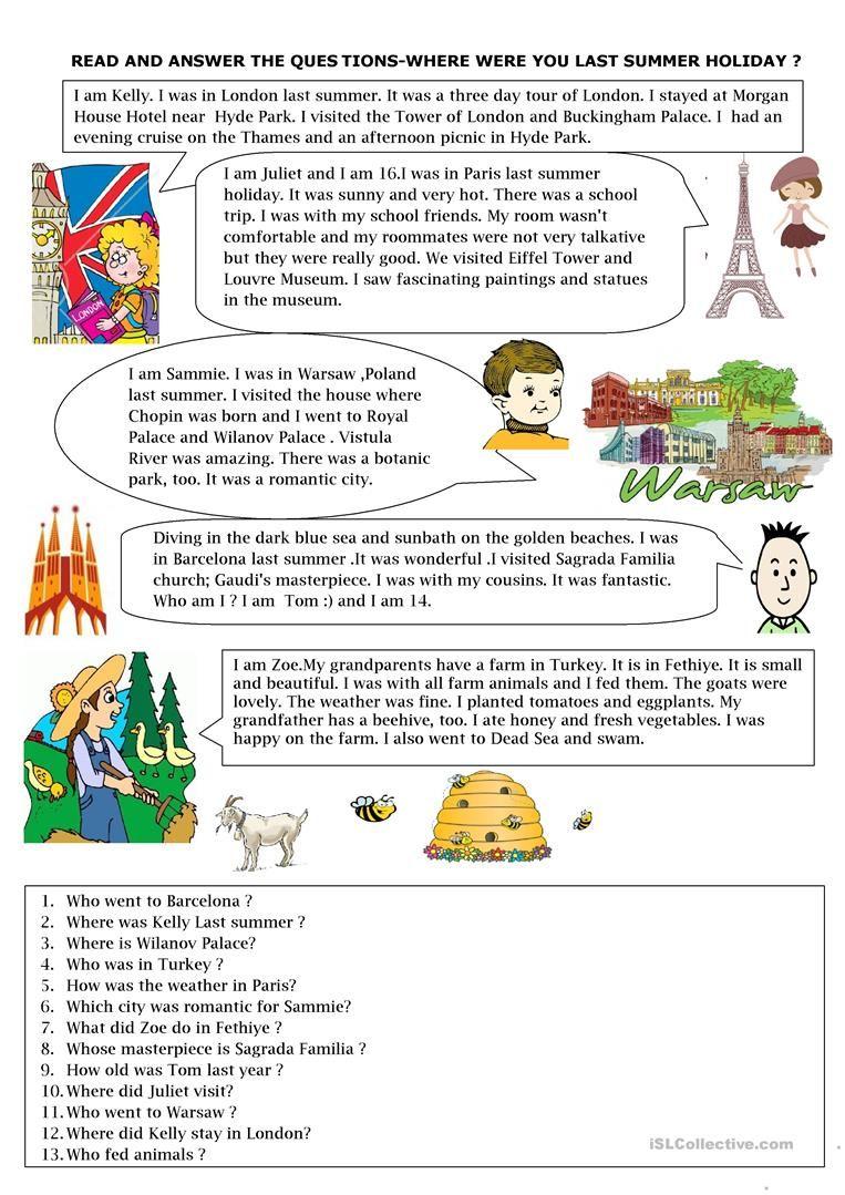 Where Were You Last Summer Worksheet Free Esl Printable Worksheets Made By Teachers History Worksheets Summer Worksheets Special Educational Needs [ 1079 x 763 Pixel ]