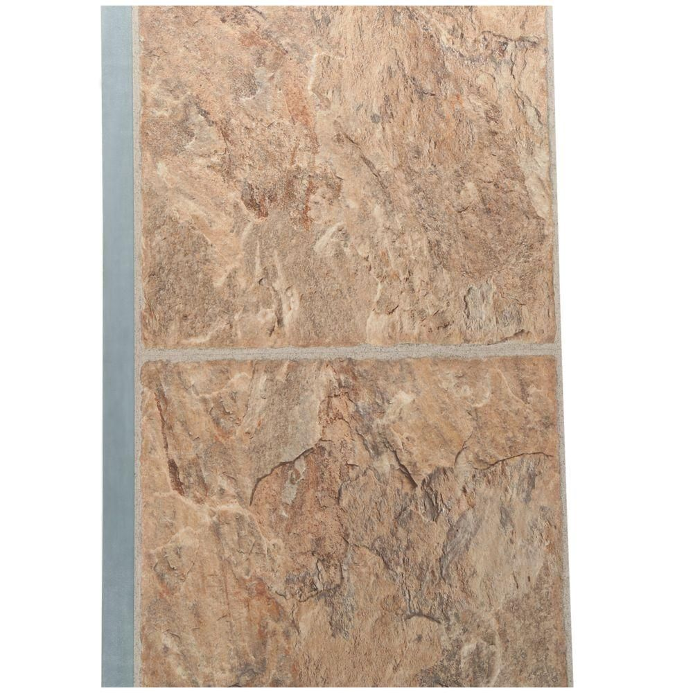 Trafficmaster Allure 12 In X 36 In Red Rock Resilient Vinyl Tile