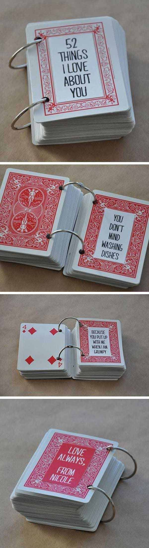 25 Easy DIY Valentines Day Gift and Card Ideas – Valentine Playing Cards