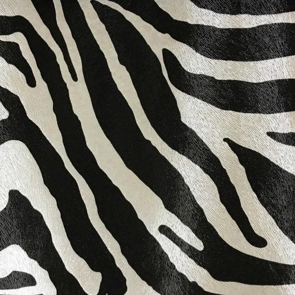 Chester Zebra Print Vinyl Fabric Faux Leather Upholstery By The Yard Available In