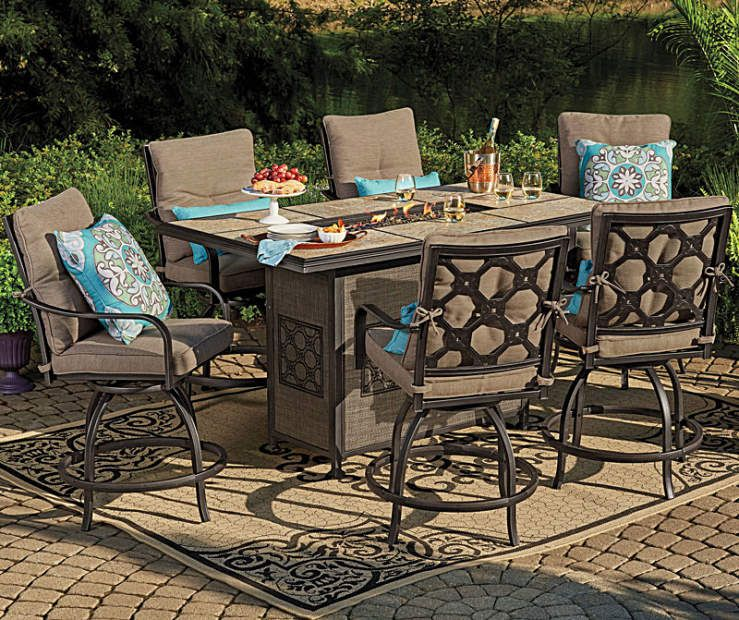 Wilson Fisher Stoneridge High Top Patio Dining Collection At Big Lots Big Lots Patio Furniture Outdoor Patio Set Patio