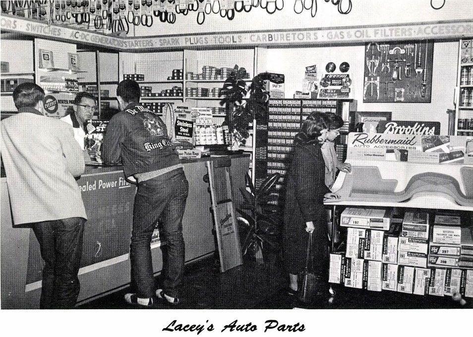 Lacey\'s Auto Parts, 1960 | Old auto part stores | Pinterest | Cars