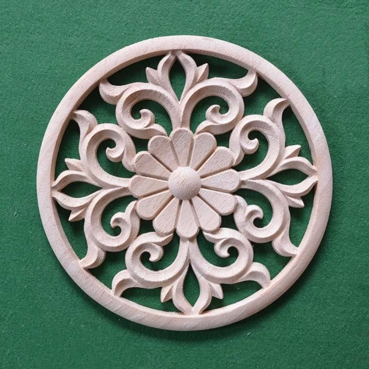 Dongyang wood carving round antique cutout indoor decoration