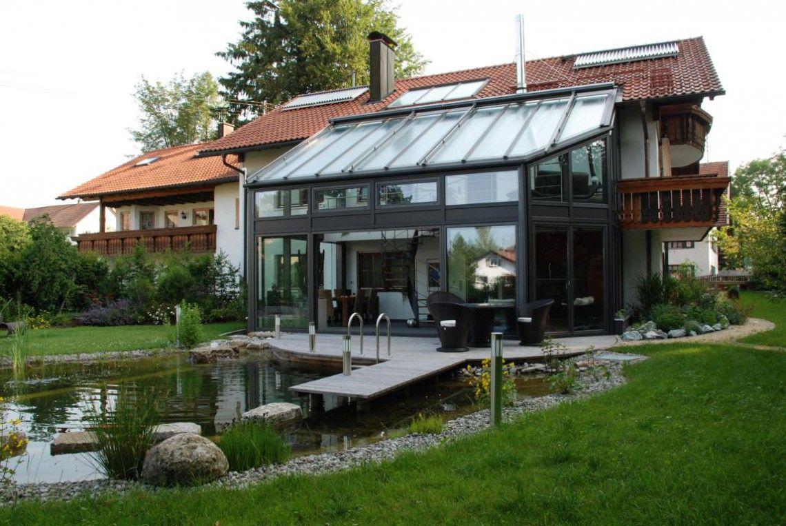 Faltfenster Wintergarten ~ Wintergarten mit faltfenster und milchglas brüstung