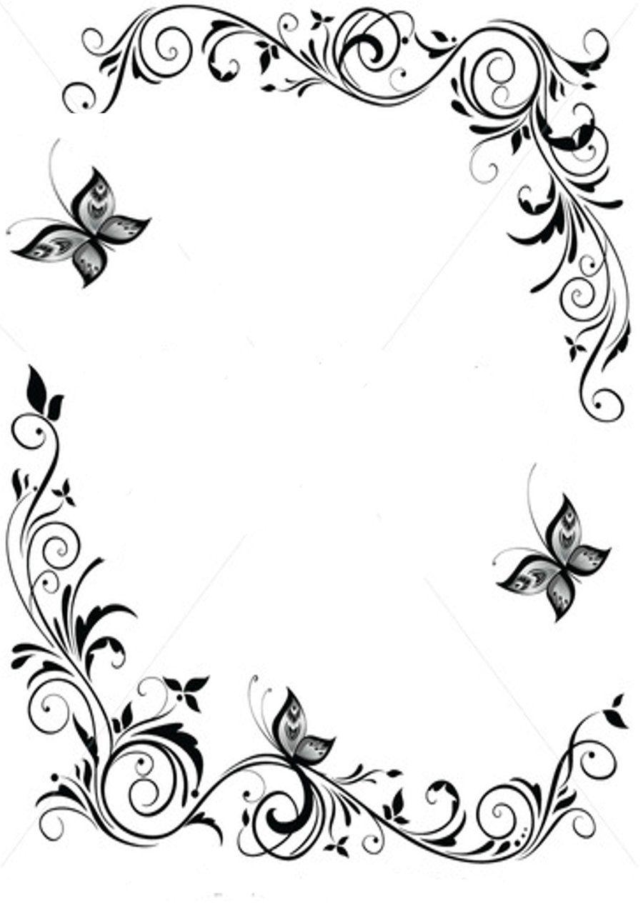 Purple flowers clip art border cliparts co - Japanese Border Designs Cliparts Co
