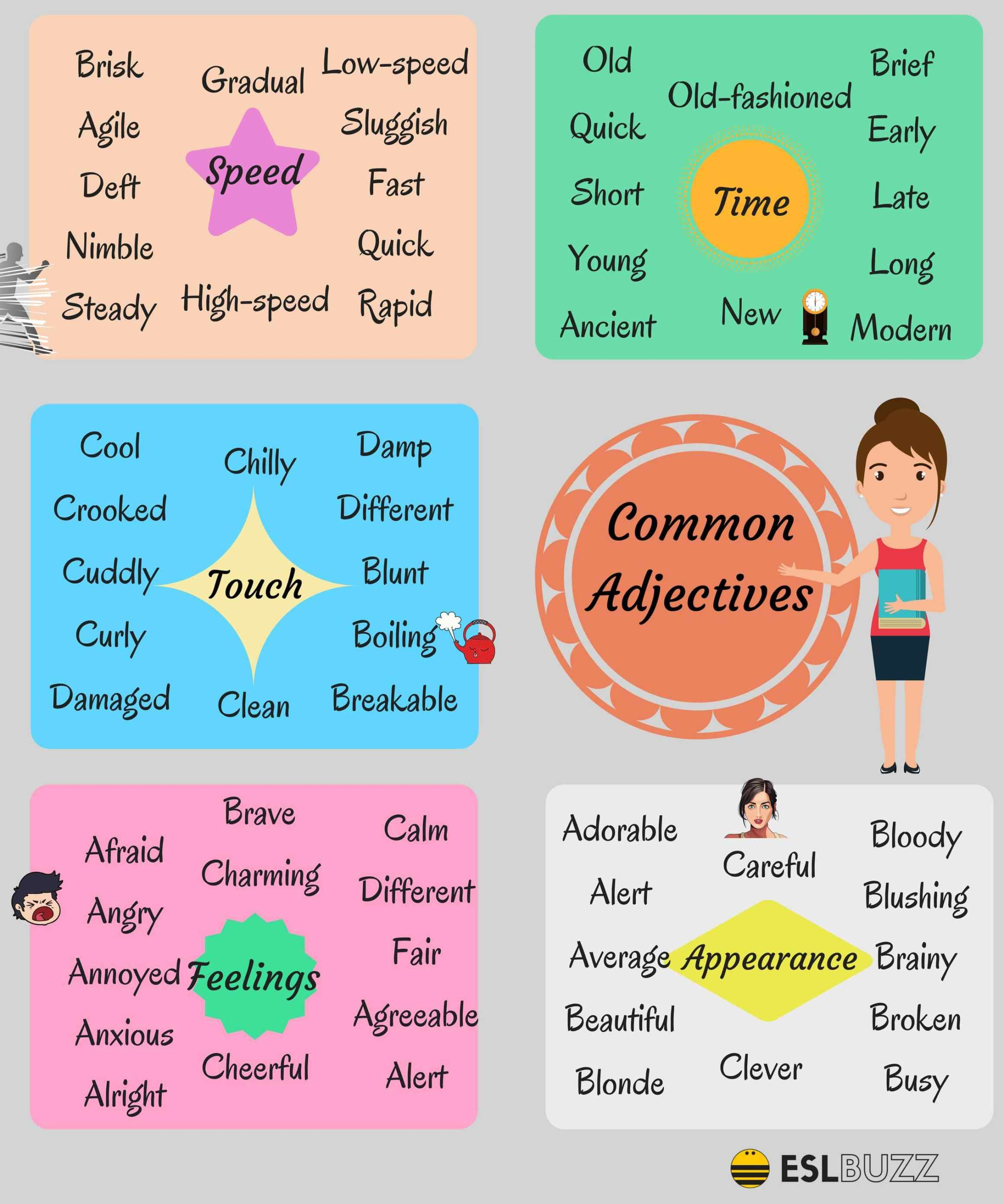 Common Adjectives In English