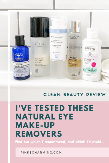 Looking for the best natural eye make-up remover to complete your clean skincare regime? I've tried and tested five natural eye make-up removers from the top clean beauty brands at a range of price points, so you don't have to. | #pinkscharming #organicskincare #naturalskincare